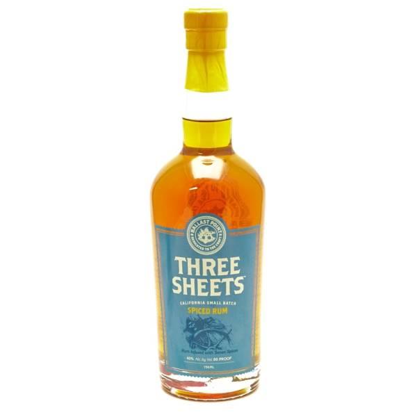 Ballast Point Spirits - Three Sheets Spiced Rum -750ml