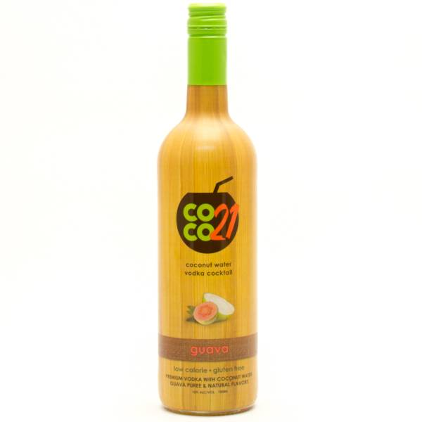 Coco 21 - Guava - Coconut Water and Vodka Cocktail - 750ml