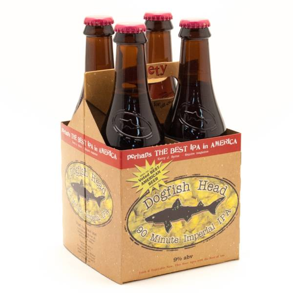 Dogfish Head - 90 Minute Imperial IPA - 12oz Bottle - 4 Pack