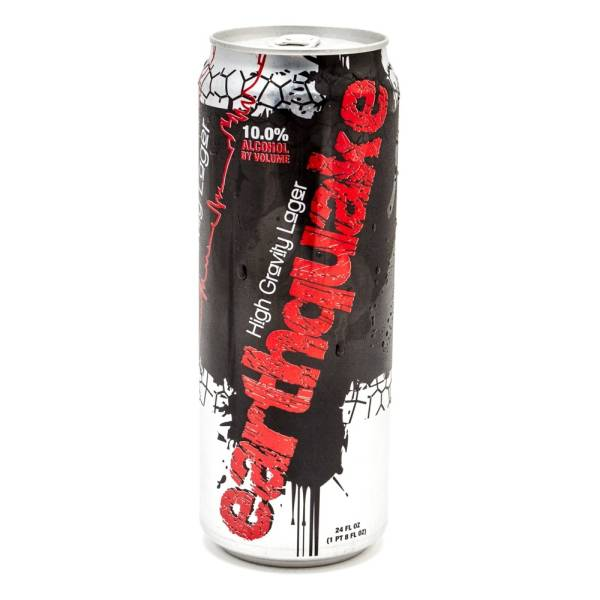Earthquake High Gravity Lager 24oz Can Beer Wine