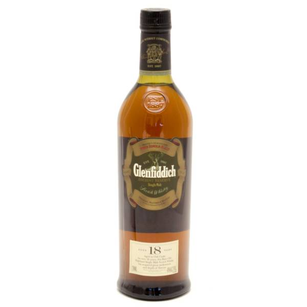 Glenfiddich - 18 Years Old Reserve Scotch Whiskey Pure Single Malt - 750ml