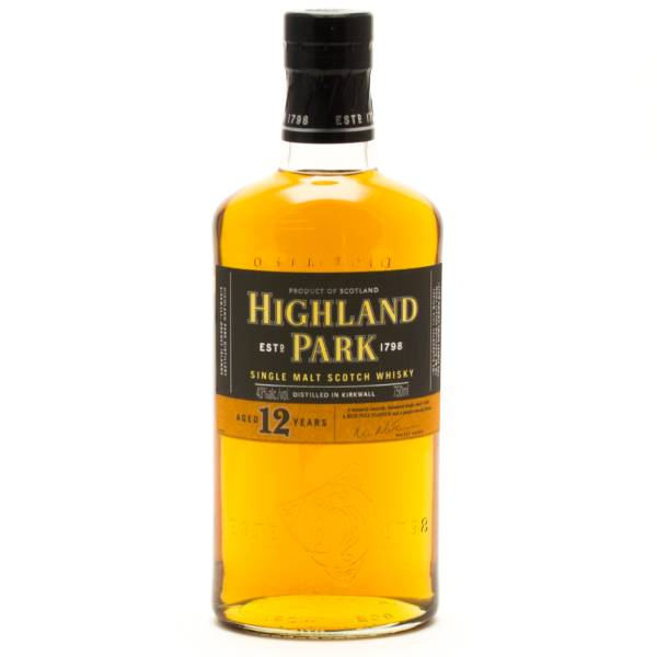 Highland Park - Aged 12 Years - Single Malt Scotch Whisky - 750ml