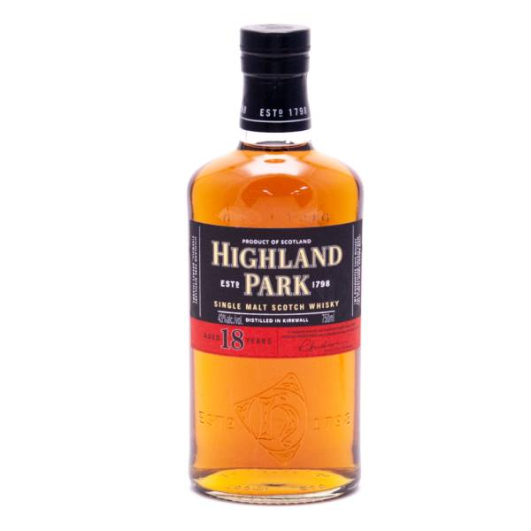 Highland Park - Aged 18 Years - Single Malt Scotch Whisky - 750ml