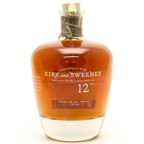 Kirk and Sweeeney -  Aged 12 Years - Dominican Rum -  750ml