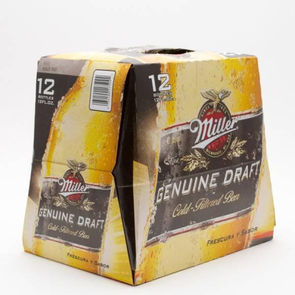 Miller - Genuine Draft - 12oz Bottle - 12 Pack