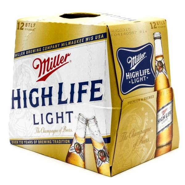 miller high life light 12oz bottle 12 pack beer wine and liquor delivered to your door. Black Bedroom Furniture Sets. Home Design Ideas
