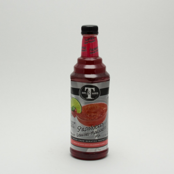Mr & Mrs T - Strawberry Daiquiri Margarita Mix - Non-Alcoholic - 1L