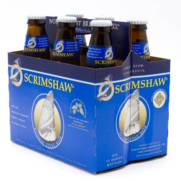 North Coast - Scrimshaw - Pilsner Style Ale - 12oz Bottles - 6 pack