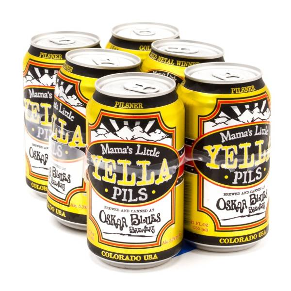 Oskar Blues - Mama's Little Yella Pils Pilsner - 12oz Can - 6 Pack