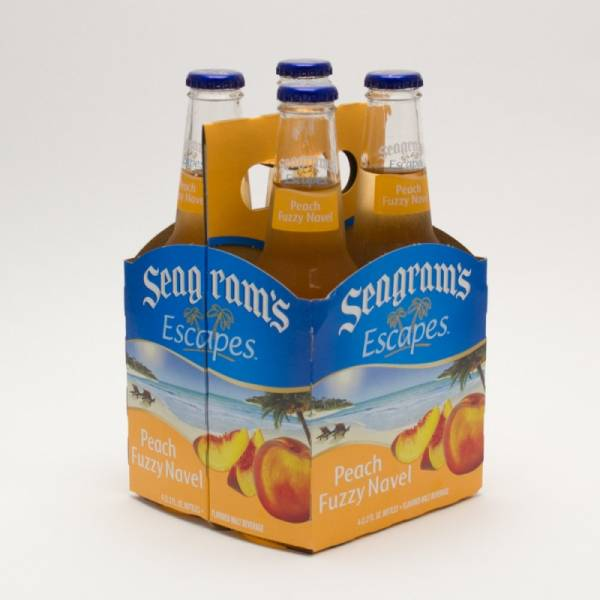 Seagram's - Escapes - Peach Fuzzy Navel - 11.2oz Bottle - 4 Pack