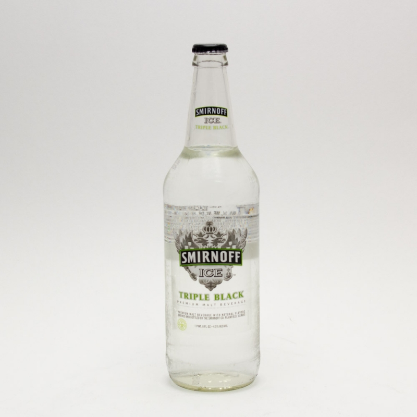 Smirnoff Ice - Triple Black - 24oz Bottle