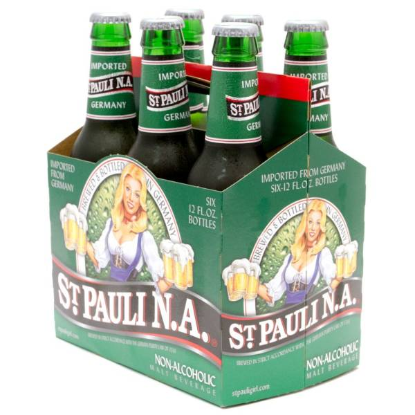 St Pauli N.A. - Non Alcoholic Malt Beverage - 12oz Bottles - 6 pack