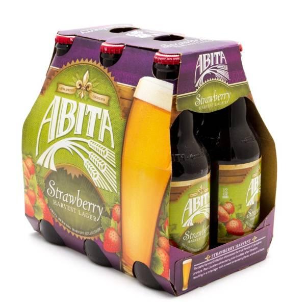 Abita - Strawberry Harvest Lager - 12oz Bottles - 6 pack