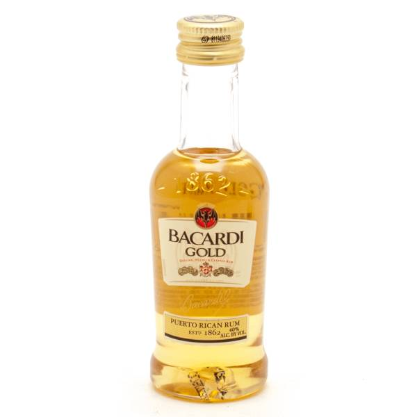 Bacardi - Gold Original Rum - Mini 50ml
