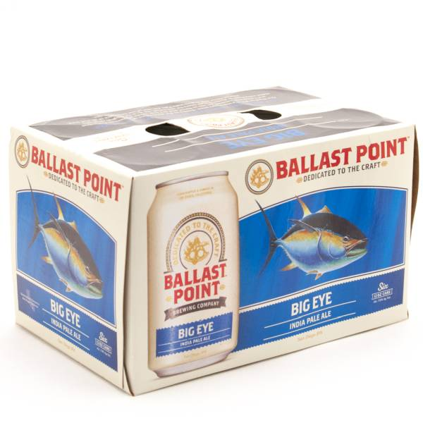 Ballast Point - Big Eye India Pale Ale - 12oz Can - 6 Pack