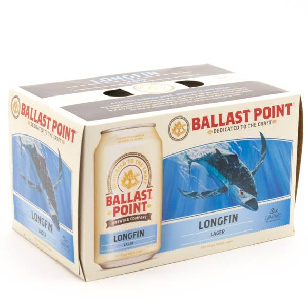 Ballast Point - Longfin Lager - 12oz Can - 6 Pack