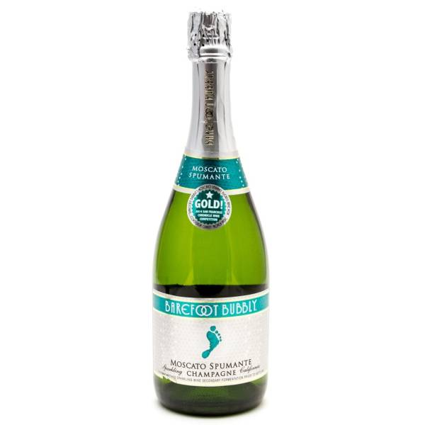 Barefoot - Bubbly Moscato Spumante - Sparkling Champagne - 750ml