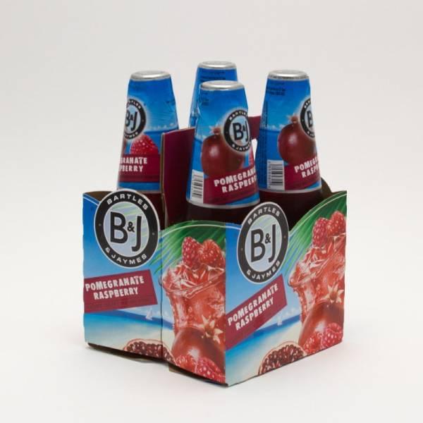 Bartles & Jaymes - Pomegranate Raspberry - 11.2oz Bottle - 4 Pack