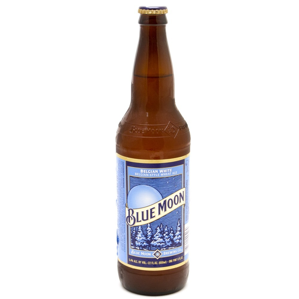 Blue Moon - Belgian White Wheat Ale - 22oz Bottle