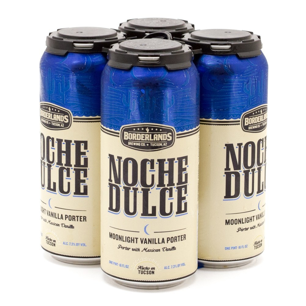 Borderlands - Noche Dulche - Moonlight Vanilla Porter - 16oz Can - 4 Pack