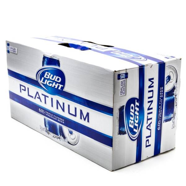 Superb Bud Light   Platinum   12oz Slim Can   18 Pack Nice Look