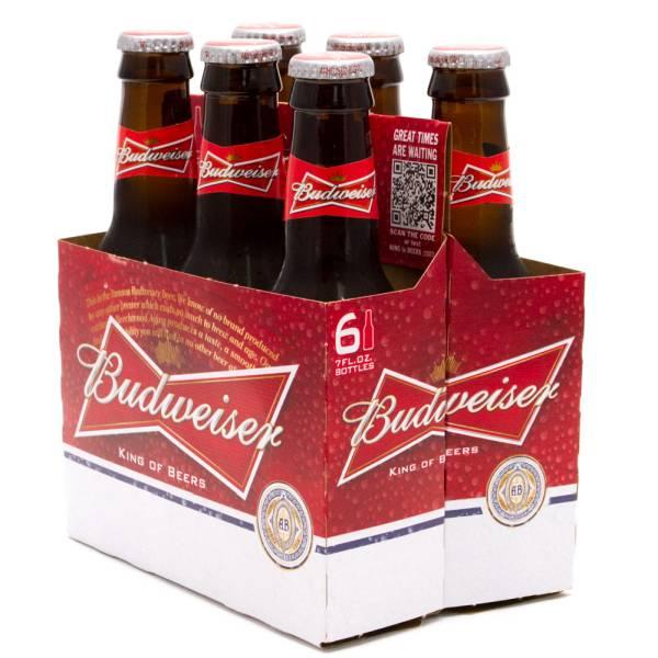 Budweiser - Beer - 7oz Bottle - 6 Pack