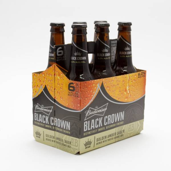 Budweiser - Black Crown - 12oz Bottle - 6 Pack
