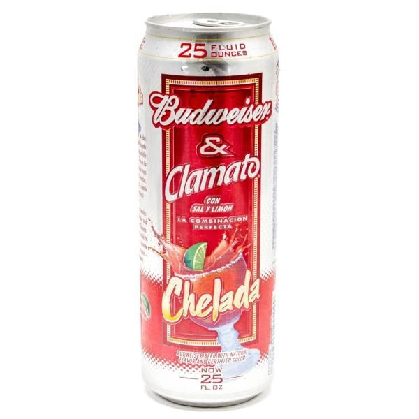 Budweiser & Clamato - Salt & Lime Chelada - 25oz Can