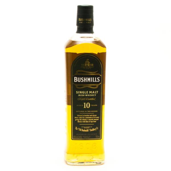 Bushmills - Aged 10 Years - Single Malt Irish Whiskey - 750ml