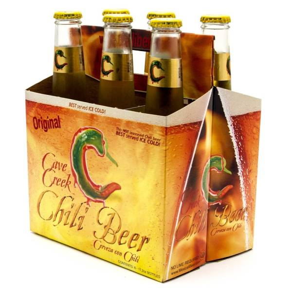 Cave Creek - Chili Beer - 12oz Bottle - 6 Pack