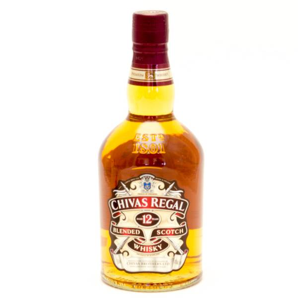 Chivas Regal - Aged 12 Years Blended Scotch Whiskey - 750ml