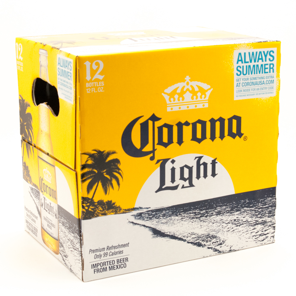Corona Light - Imported Beer - 12oz Bottles - 12 Pack
