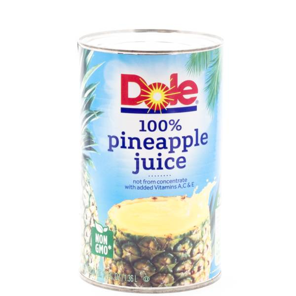 dole pineapple juice 46oz can beer wine and liquor