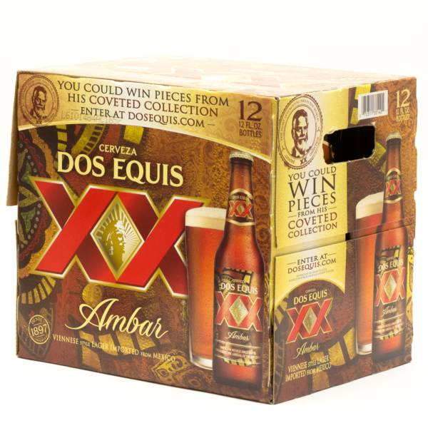 Dos Equis XX - Amber - 12oz Bottle - 12 Pack