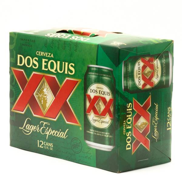 Dos Equis Xx Lager Especial 12oz Can 12 Pack Beer Wine And Liquor Delivered To Your Door Or Business 1 Hour Alcohol Delivery