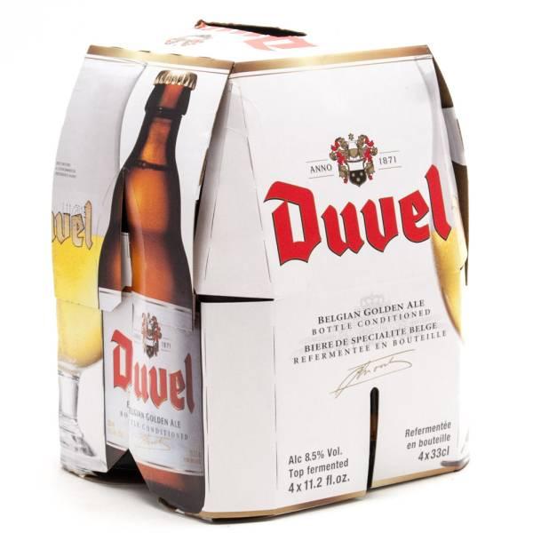 Duvel - Belgian Golden Ale - 11.2oz Bottle - 4 Pack