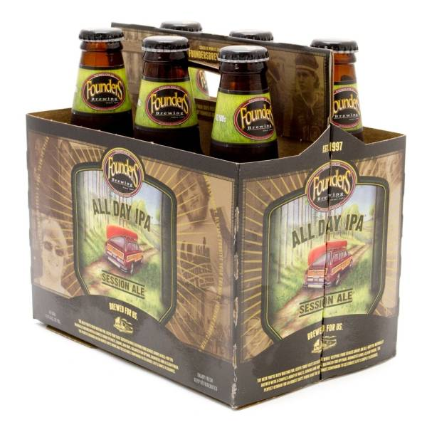 Founders - All Day IPA Session Ale - 12oz Bottles - 6 pack