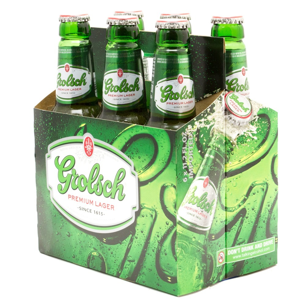 Grolsch - Premium Lager - 12oz Bottles - 6 pack