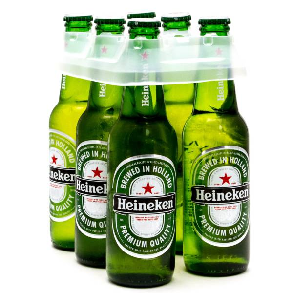 Heineken - Lager Beer - 12oz Bottle - 6 Pack