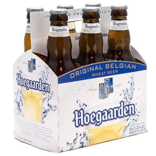 Hoegaarden - Belgian Wheat Beer - 11.2oz Bottle - 6 Pack