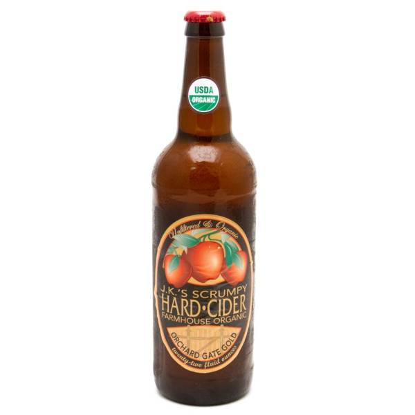 J.K.'s - Scrumpy Hard Cider Farmhouse Organic - 22oz Bottle
