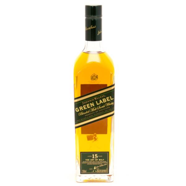 Johnnie Walker - Green Label - Blended Malt Scotch Whisky - Aged 15 Years - 750ml