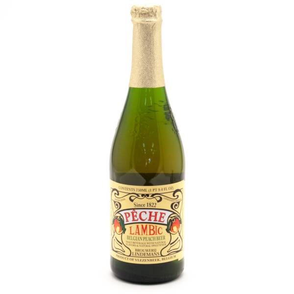 Lindemans Peche - Lambic Belgian Peach Beer - 750ml