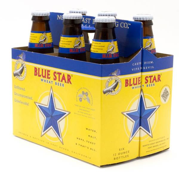 North Coast - Blue Star Wheat Beer - 12oz Bottles - 6 pack