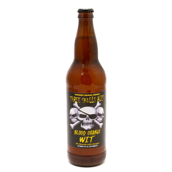 Northwest - Three Skulls Ale Blood Orange WIT - 22oz Bottle