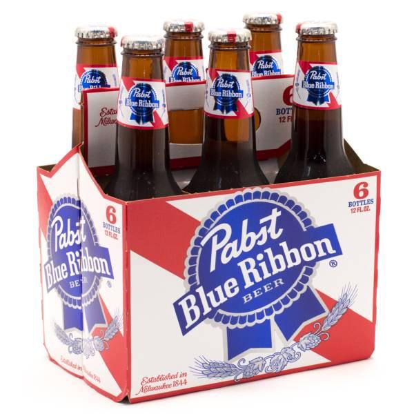 Pabst Blue Ribbon - Beer - 12oz Bottle - 6 pack