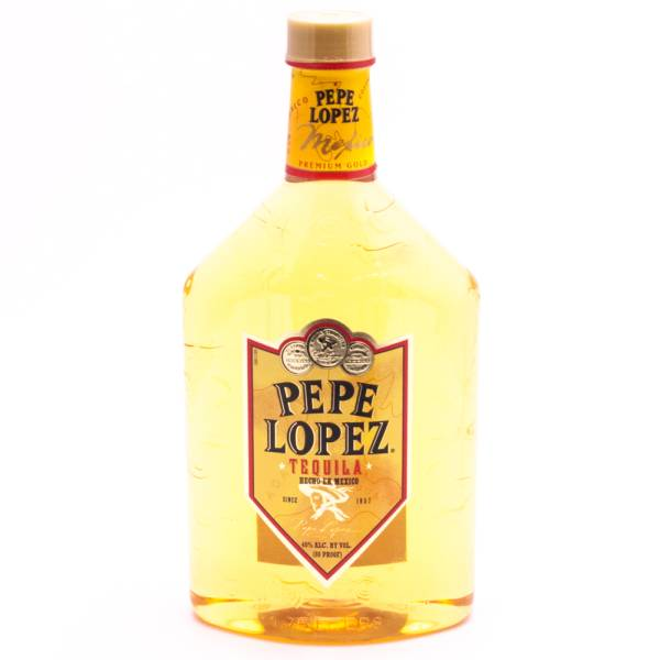 Pepe Lopez - Tequila Premium Gold - 80 Proof - 1.75L