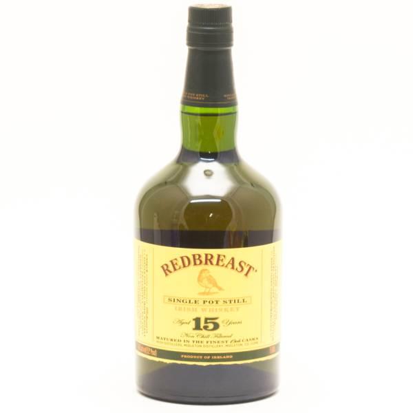 Redbreast - Single Pot Irish Whiskey - Aged 15 Years - 750ml
