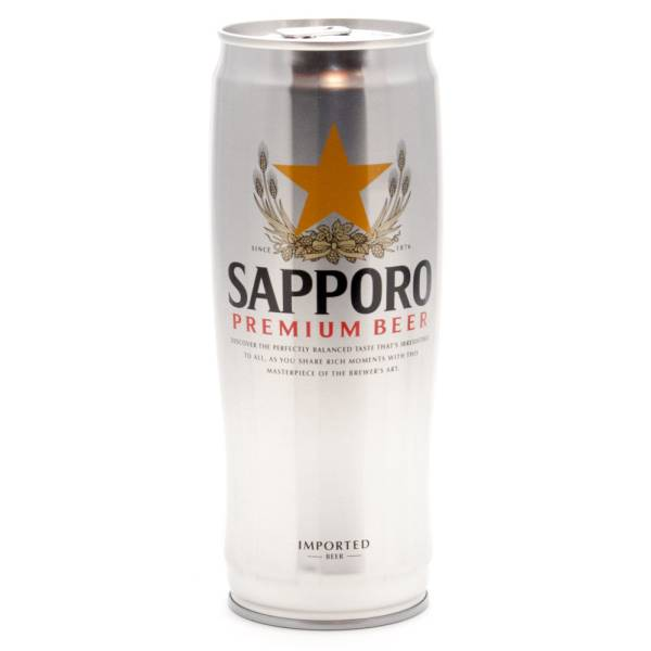 Sapporo - Premium Beer - 22oz Can