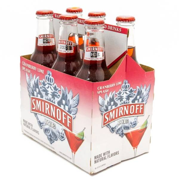 Smirnoff Ice - Cranberry Lime Splash - 11.2oz Bottle - 6 Pack